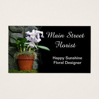 Cartes De Visite Fleurs de pourpre d'orchidée de Cattleya