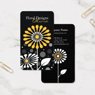 Cartes De Visite Fleurs jaunes de fleuriste