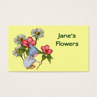 Cartes de visite horticulture personnalis es - Fleuriste grange blanche ...