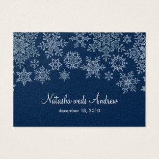 Cartes De Visite Flocons de neige d'hiver épousant la clôture de