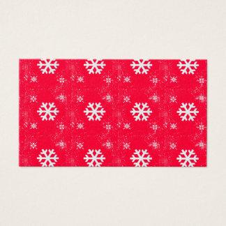 Cartes De Visite Flocons de neige mignons vibrants de Noël
