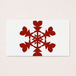 Cartes De Visite Flocons de neige rouges
