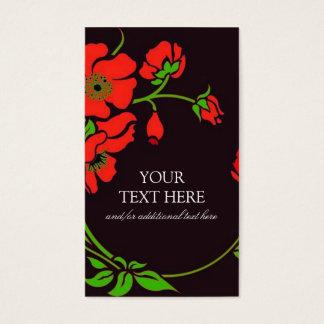 Cartes De Visite Floral de fantaisie