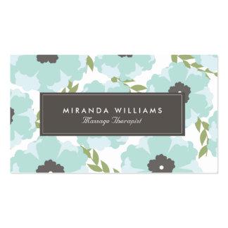 Cartes de visite floraux bleus élégants - Groupon Carte De Visite Standard