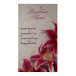Cartes de visite floraux de splendeur modèles de cartes de visite