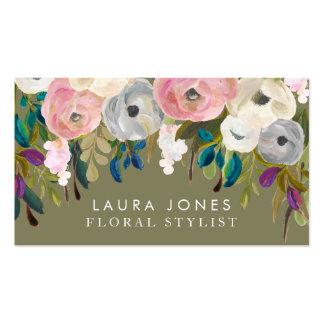 Cartes de visite floraux de styliste de fleuriste carte de visite standard