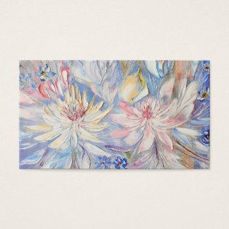 Cartes de visite floraux d'impressionisme