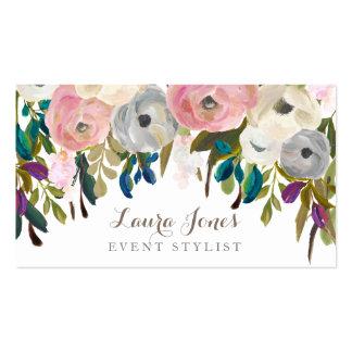 Cartes de visite floraux peints de styliste de carte de visite standard
