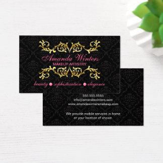 Cartes De Visite Flourish élégant et damassé d'or