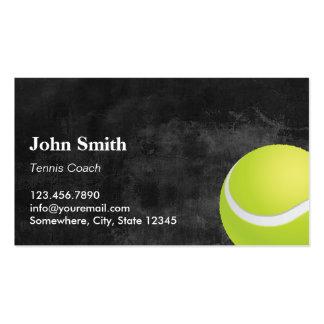 Cartes de visite foncés professionnels de tennis carte de visite standard