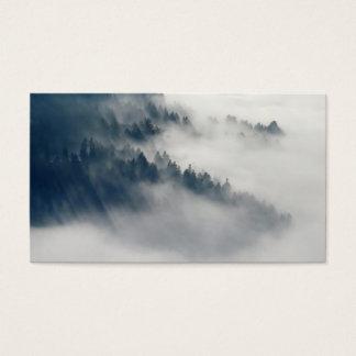 Cartes De Visite Forêt brumeuse