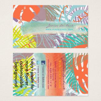 Cartes De Visite Forêt tropicale de PixDezines/couleur tropicale de
