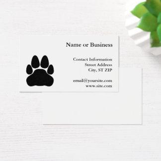 Cartes De Visite Forme d'empreinte de patte de chat noir