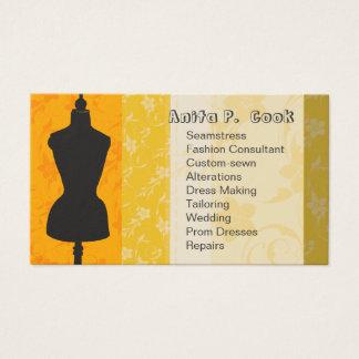 Cartes De Visite Forme vintage de couture de robe de mode de