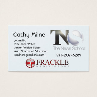 Cartes De Visite Frackle Media/TNS Business Card