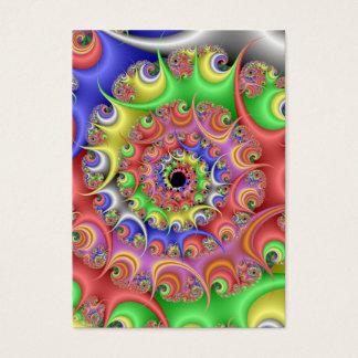 Cartes De Visite Fractale de spirale d'oeuf de pâques