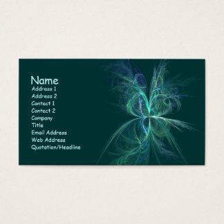 Cartes De Visite Fractale d'énergie psychique