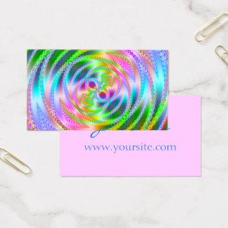 Cartes De Visite Fractalscope assez rose et en pastel