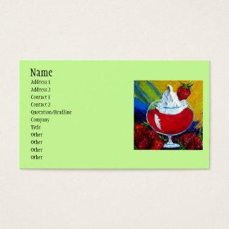 Cartes De Visite fraises, nom, adresse 1, adresse 2, Conta…