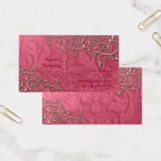 Cartes De Visite Framboise de Peridot + remous rustiques d'argent