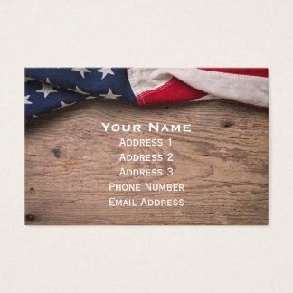 Cartes De Visite Frontière vintage de drapeau américain