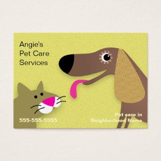 Cartes De Visite Garde d'enfants d'animal familier - jaune de chien