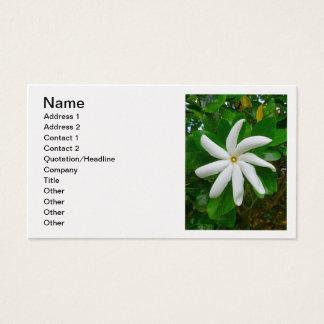 Cartes De Visite Gardénia de Tahitian