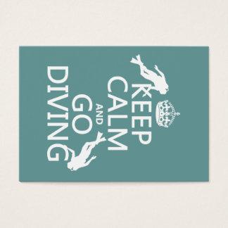 Cartes De Visite Gardez le calme et allez (scaphandre) plonger