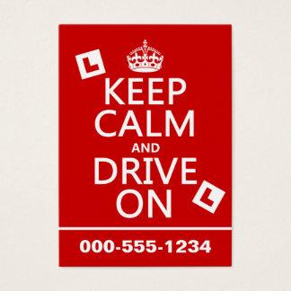 Cartes De Visite Gardez le calme et conduisez sur (l'étudiant)