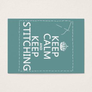 Cartes De Visite Gardez le calme et continuez à piquer (toutes les
