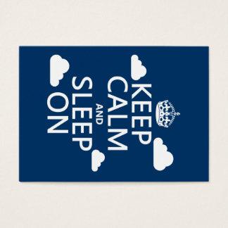 Cartes De Visite Gardez le calme et dormez sur (la couleur de