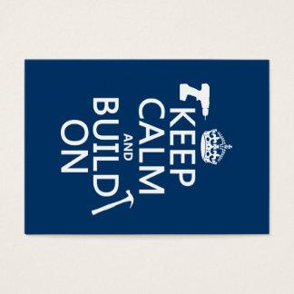 Cartes De Visite Gardez le calme et le construisez sur (toute
