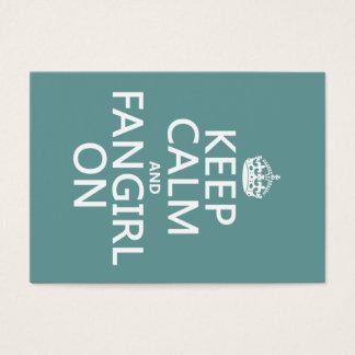 Cartes De Visite Gardez le calme et le Fangirl sur (dans toutes les