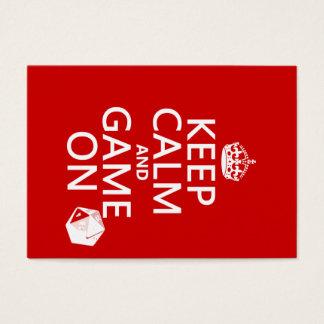 Cartes De Visite Gardez le calme et le jeu dessus - des matrices -