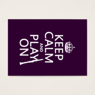Cartes De Visite Gardez le calme et le jeu sur (clarinette) (toute