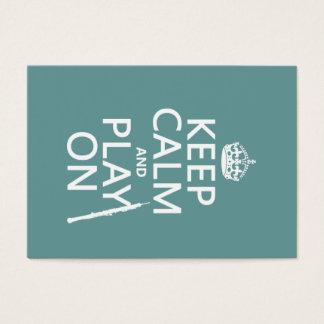 Cartes De Visite Gardez le calme et le jeu sur (hautbois) (toute