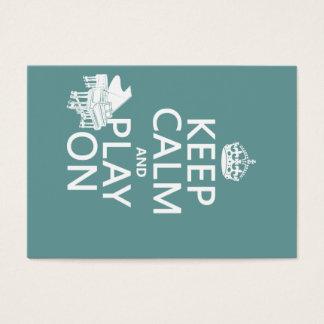 Cartes De Visite Gardez le calme et le jeu sur (piano) (toute
