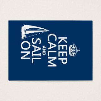 Cartes De Visite Gardez le calme et naviguez dessus - toutes les