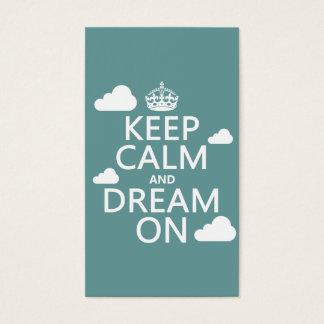 Cartes De Visite Gardez le calme et rêvez dessus (des nuages) -