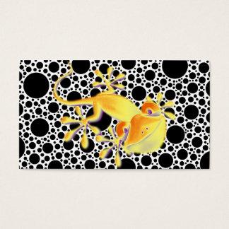 Cartes De Visite Gecko de sourire sur les points noirs + votre