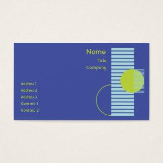 Cartes De Visite Géométrique bleu - affaires
