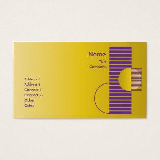 Cartes De Visite Géométrique pourpre - affaires