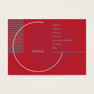 Cartes De Visite Géométrique rouge - potelé