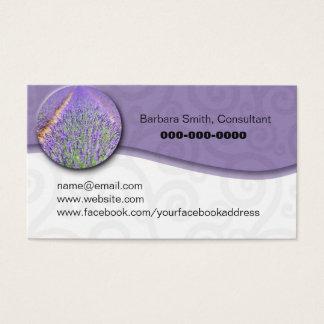 Cartes De Visite Gisement lavendar d'huile essentielle