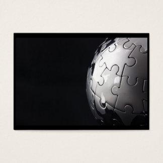 Cartes De Visite Globe de chrome avec l'arrière - plan noir