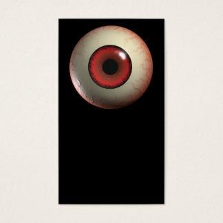Cartes De Visite Globe oculaire rouge de monstre
