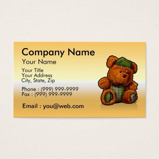 Cartes De Visite gold ours en peluche