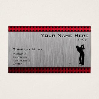 Cartes De Visite Golfeur en aluminium balayé de regard