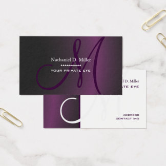 Cartes De Visite Gradient foncé Purple/DIY
