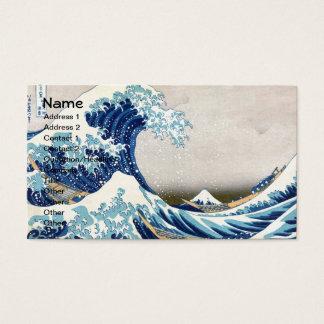 Cartes De Visite Grande vague outre des beaux-arts de Kanagawa